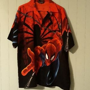 Spiderman shirt with collar